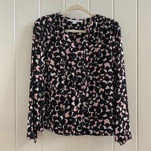 Diane von Furstenberg 100% Silk Blouse Size 6